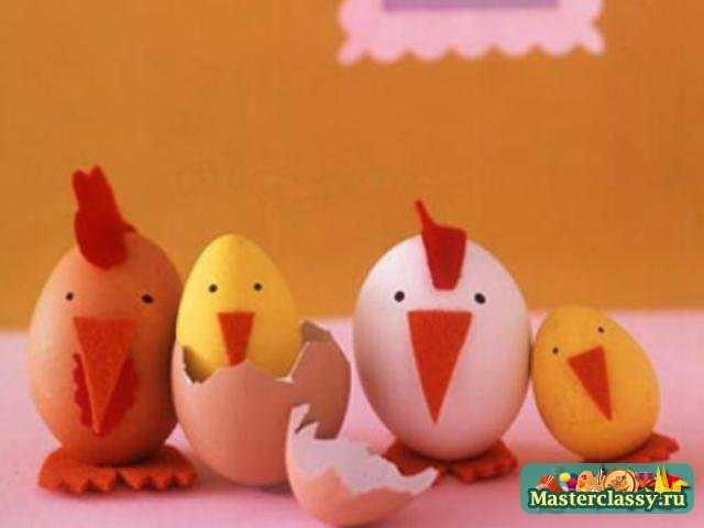 Сделать цыпленка своими руками из яйца