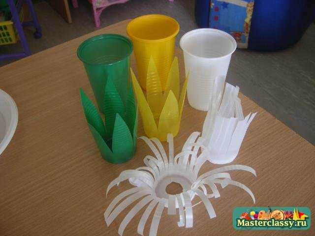 Поделка из пластиковых стаканчиков своими руками на
