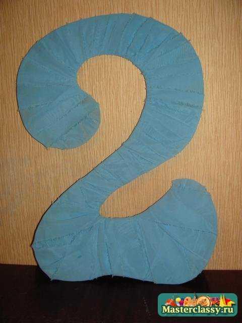 Цифры на день рождения своими руками из атласных лент