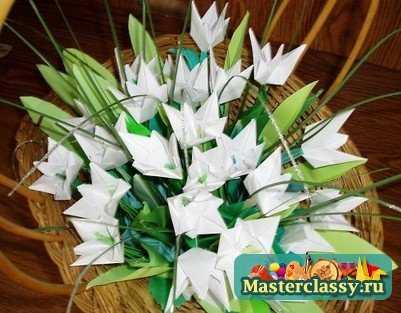 Оригами подснежник