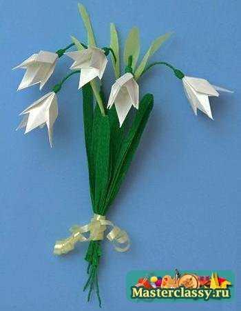 оригами подснежники.