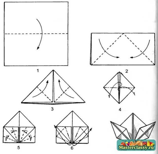 Простые оригами для детей и