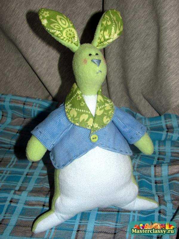 Куклы Тильда. Заяц - толстяк. Мастер класс