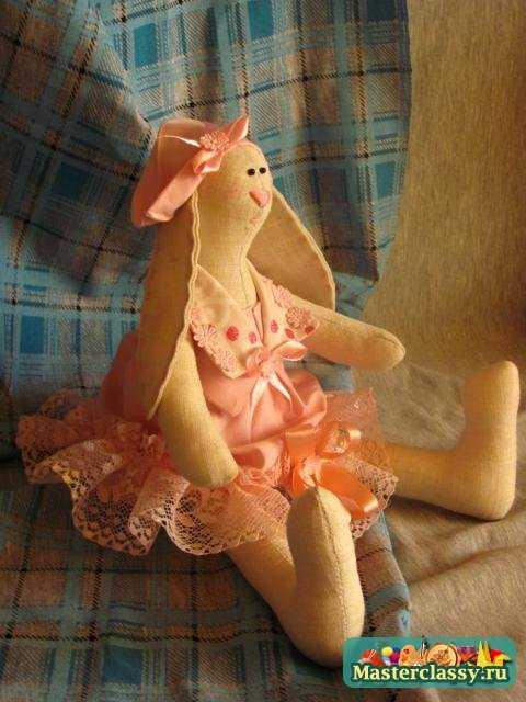 Куклы Тильда. Летний кролик - девочка. Мастер класс