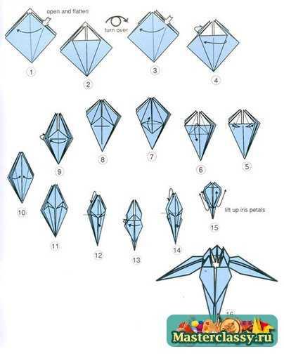Оригами из бумаги. Схемы