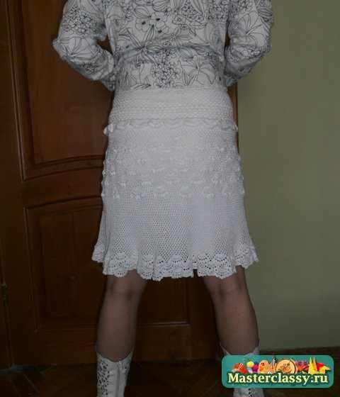 Летняя ажурная юбка крючком.