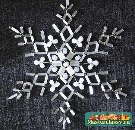 Схемы бисероплетения снежинок