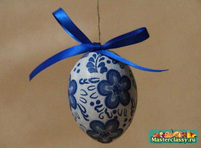 Яйца роспись мастер класс гжель поделка #8