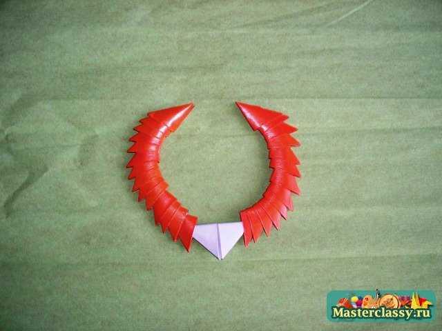 Модульное оригами для детей.  Кот Леопольд.  Мастер-класс.
