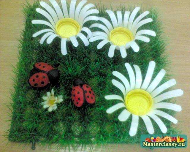 Детские поделки весенняя полянка