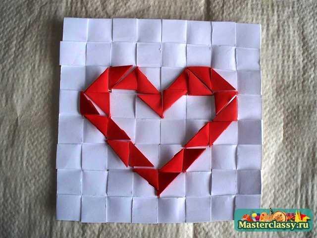 Сборка Сердца оригами