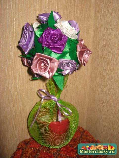 شجرة أزهار من شرائط الستان بجد تحفه 1335866933_img_3042_480x640