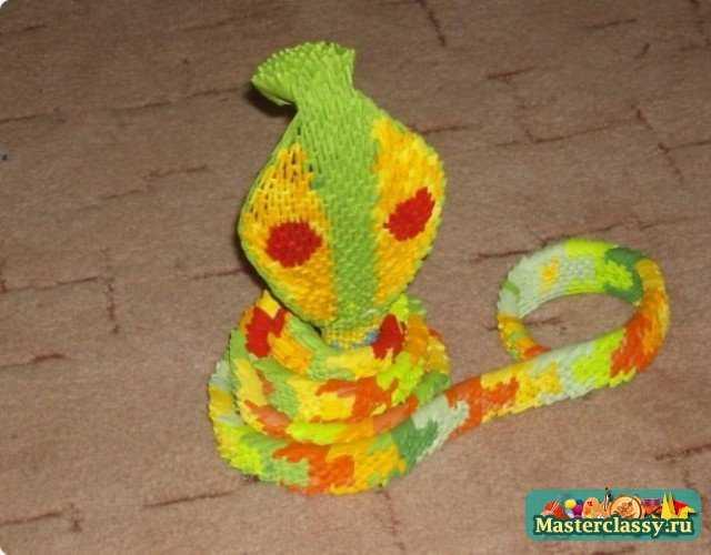 Поделка в виде змеи