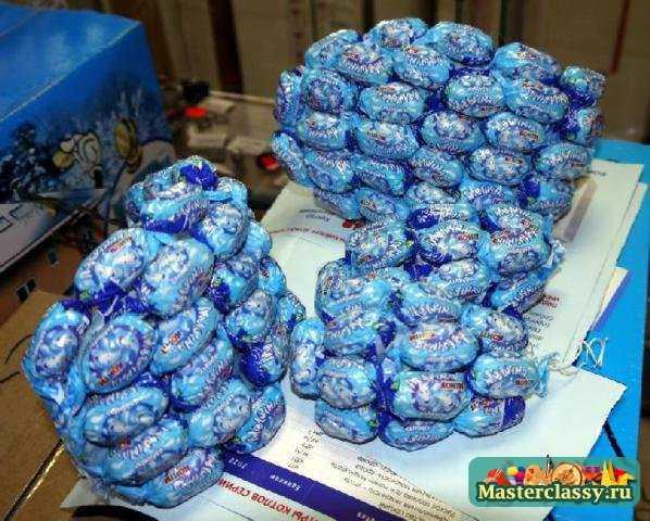 Смешарики из конфет пошаговое для начинающих 161