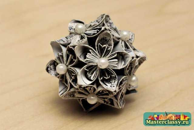 Бумажные цветы. Кусудама