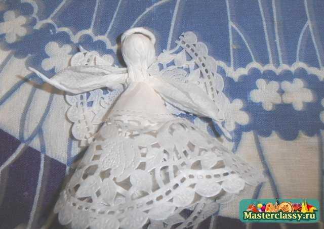 Ангелочки из салфеток своими руками мастер класс