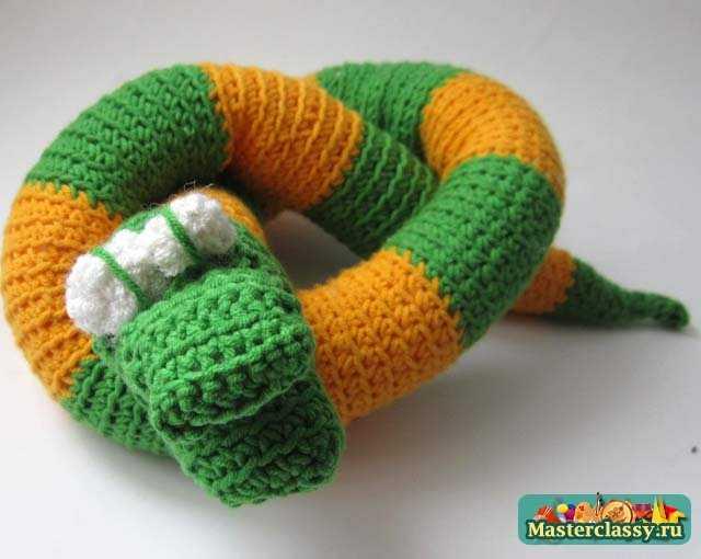 вязаные юбки, змея схема