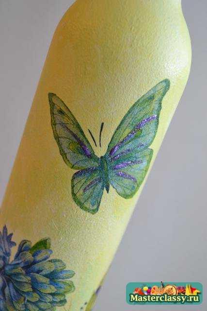 Декупаж МК Летние бабочки с пошаговыми фото