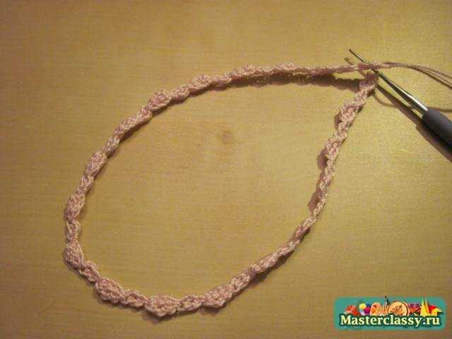 Вязание украшений. Ободок на