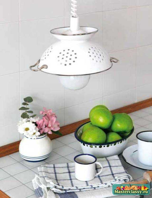 Лампа на кухню своими руками