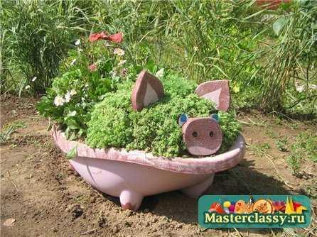 Идеи для садовых поделок безчисленны