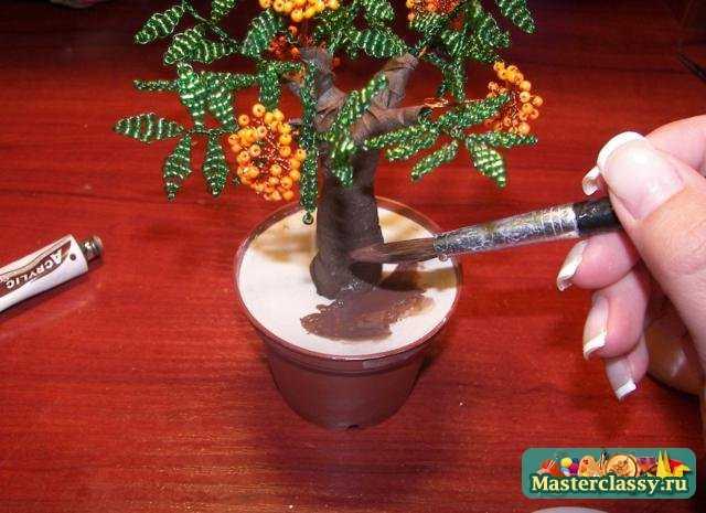 Видео по теме деревья из бисера мастер