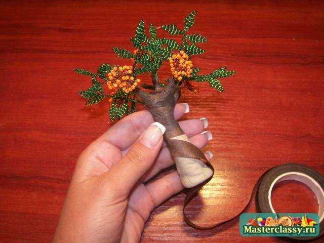 Бисероплетение для самыхсамых начинающих Деревья и ... Деревья из бисера своими руками Поделкин Дом.