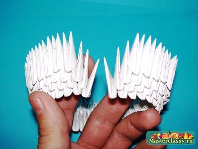 Цыпленок нижняя скорлупа модульное оригами.