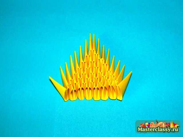 Цыпленок.  Оригами из модулей.  Мастер-класс с пошаговыми фото.