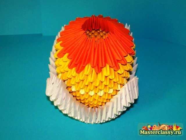 Цыпленка модульное оригами