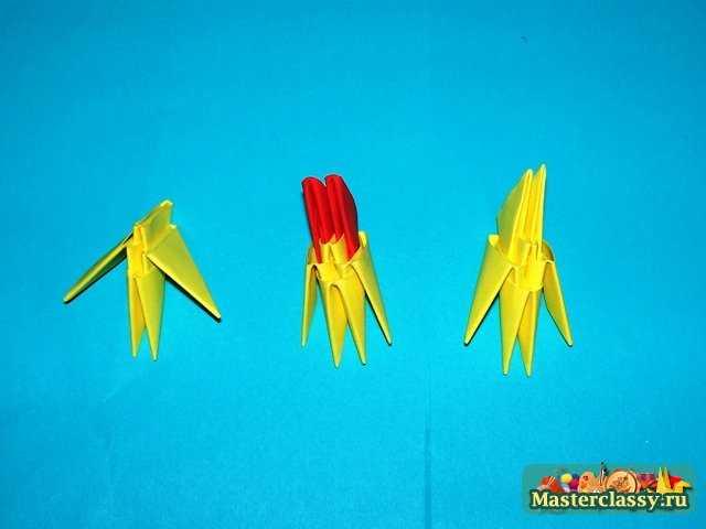 Сборка крыльев цыпленка оригами