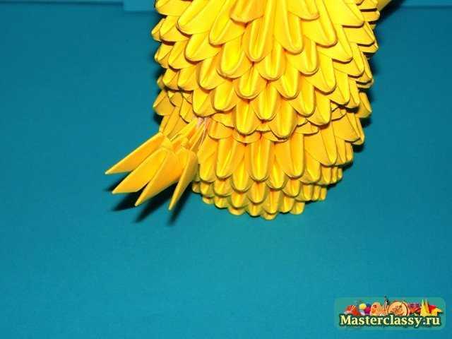 Сборка цыпленка оригами