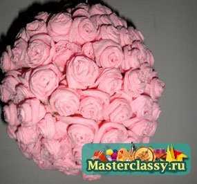 Как сделать розу из ватных дисков своими