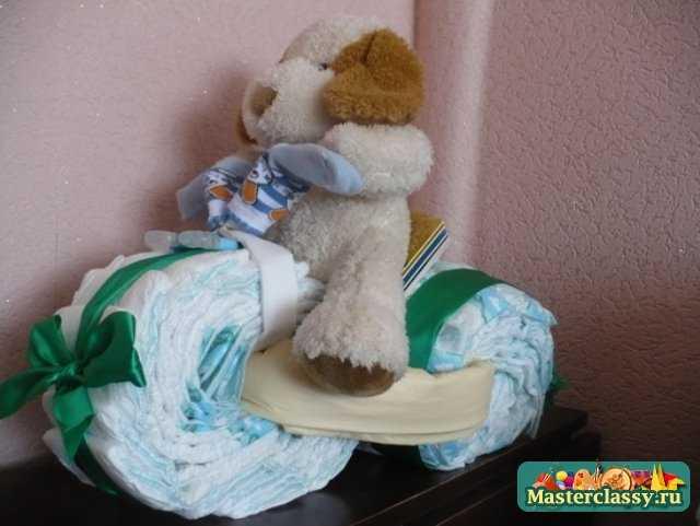 Поделки из памперсов - подарок новорожденному
