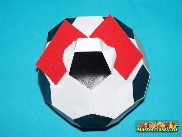 Футбольный мяч.  Мастер-класс с пошаговыми фото.