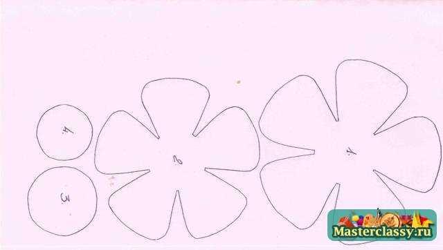 Цветы из бумаги схемы шаблоны панно 66