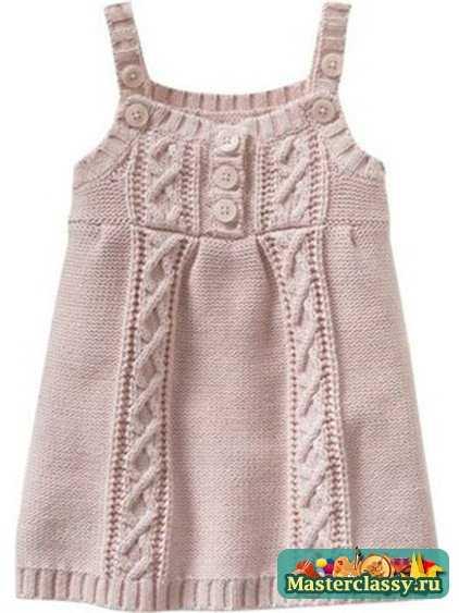 Схема вязания ажурного сарафана спицами ...Представляем еще одну модель для вязания крючком - летнее платье-сарафан.