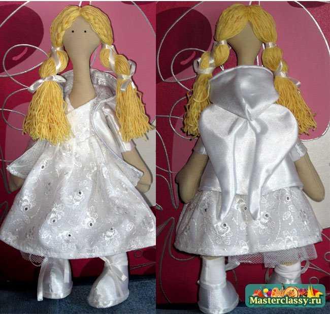 Куклы своими руками. Снежка или большеногий ангел. Мастер класс с пошаговыми фото