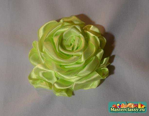 Роза из лент. Как сделать розу из лент? Мастер класс с пошаговыми фото