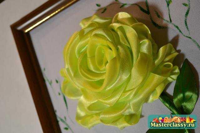 """Мастер классы  """" Вышивка  """" Вышивка лентами  """" Роза из лент.  Как сделать розу из лент.  Мастер класс с пошаговыми фото..."""