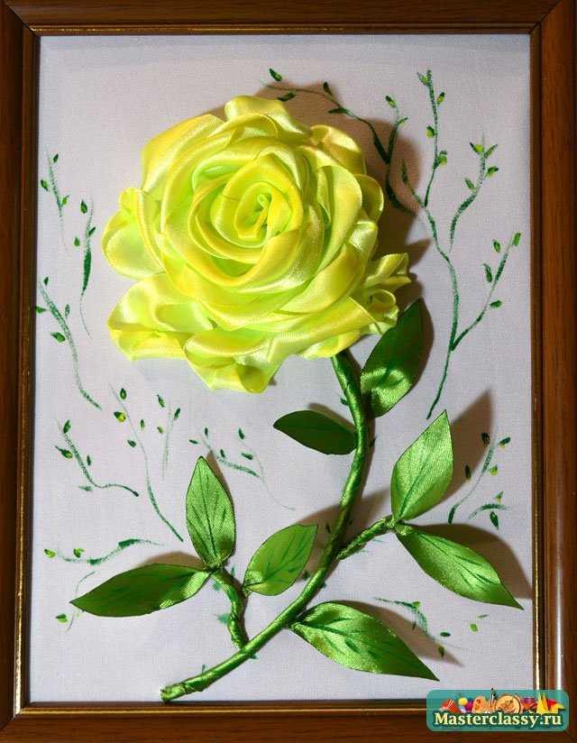 Как сделать розу из лент.  Мастер класс с пошаговыми фото.