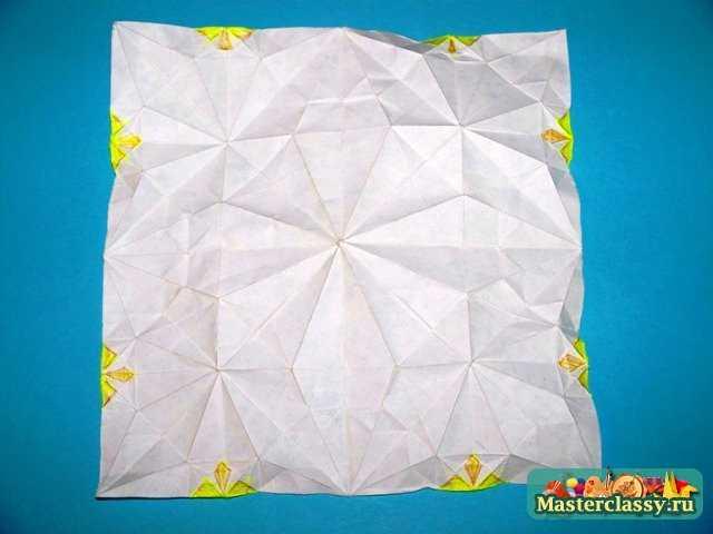 Схема Маргаритки оригами.