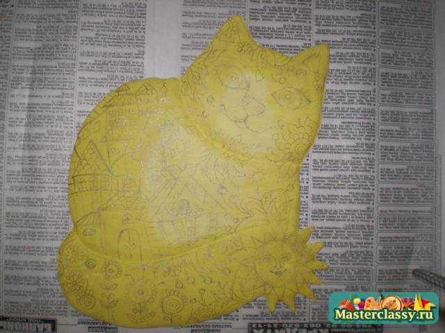 Поделки из соленого теста. Сказочный кот. Мастер класс