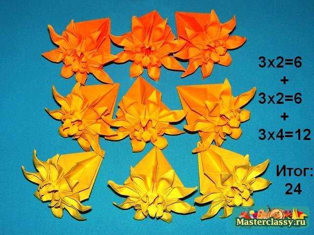 Маргаритки оригами