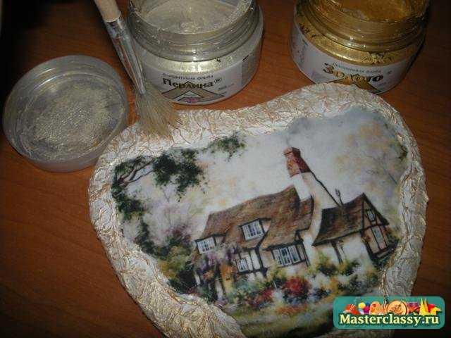 Декупаж для начинающих на дереве пошагово с из салфеток