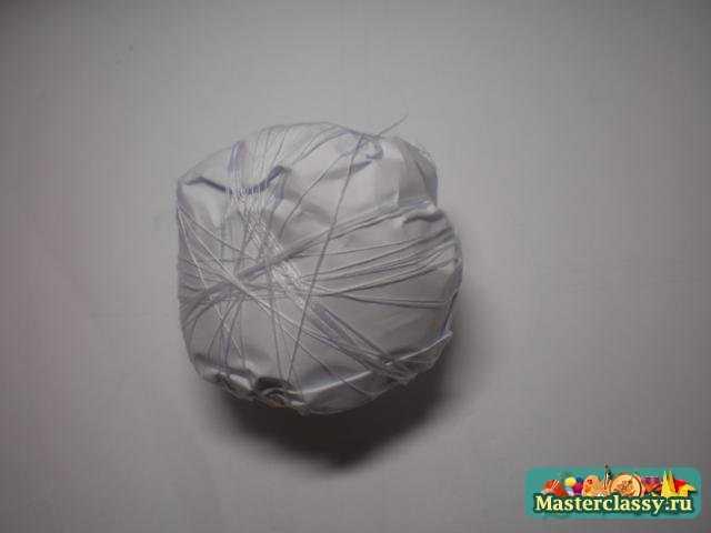 Свадебный топиарий из ватных дисков. Мастер класс с пошаговыми фото