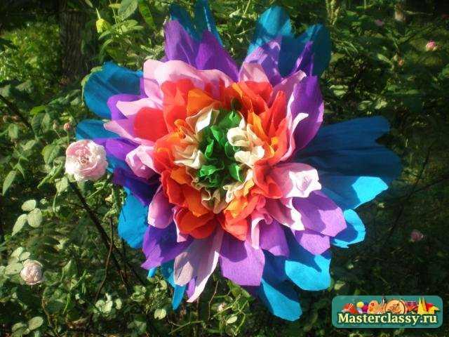 Цветы из бумаги. Краски лета. Мастер класс с фото
