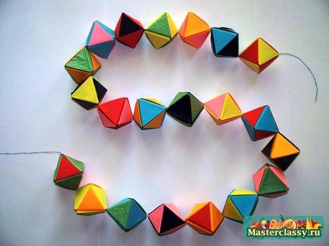 Как сделать гирлянду оригами