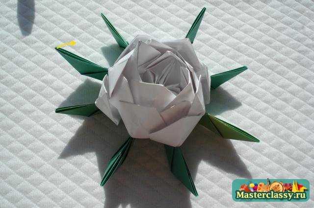Модульное оригами с пошаговым цветы