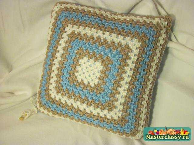 Вязание подушек Наволочка